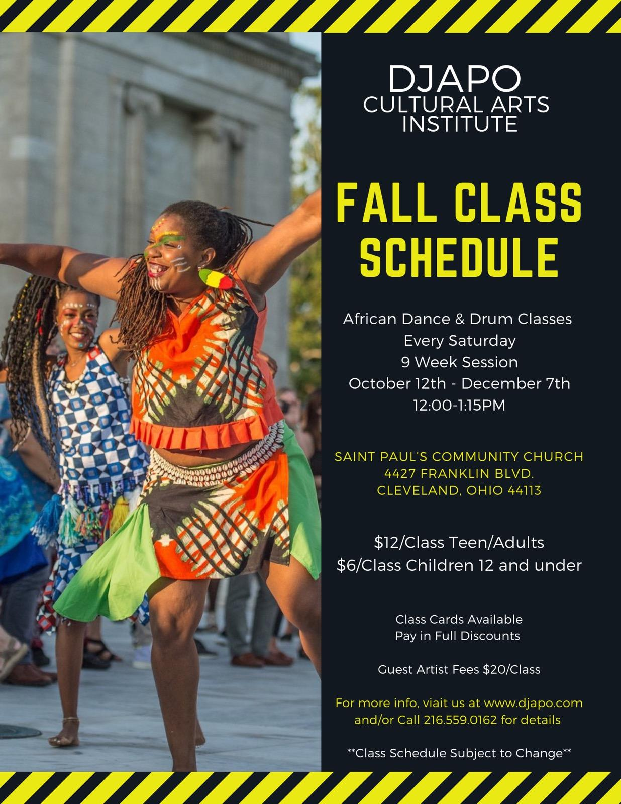 Djapo 2019 Fall Session Classes
