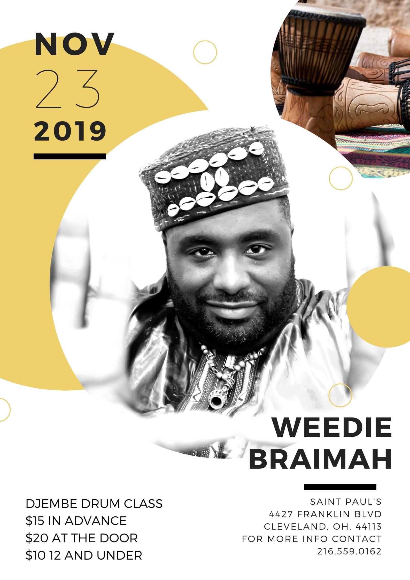 Weedie Braimah Drum Class