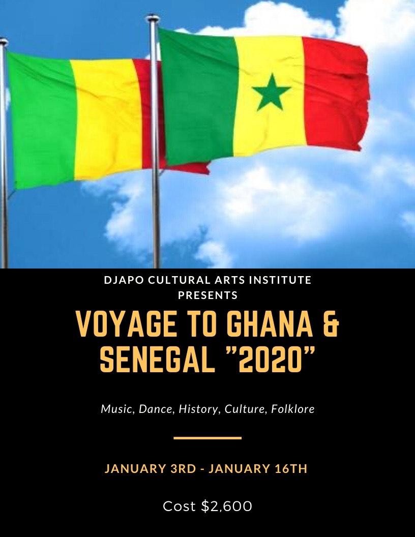 Djapo 2020 Ghana Flag and Senegal Flag